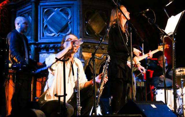 Bobbie Watson, Jon Seagroatt & Andrew Liles at the Union Chapel