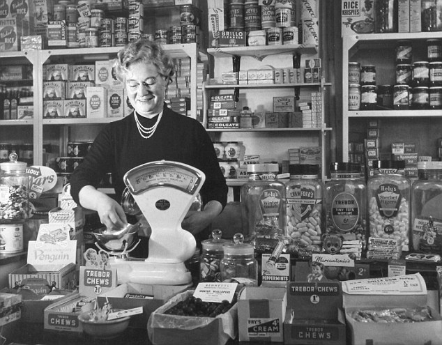 Lady Working in 1950 s Corner Shop Lifestyle History Wales
